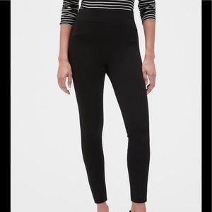 Gap Zip Ponte Legg True Black Pull-On Ankle Pants